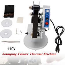 Manual Stamping Printer Hot Foil Code Thermal Printing Machine Ribbon Date Sale