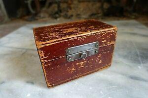 "Vintage ""50"" BLASTING CAPS WOOD BOX Case Holder  Mining Construction Blasting"