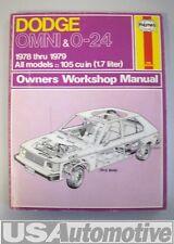 78-79 Dodge Omni&0-24 Haynes Workshop Manual 1978-1979
