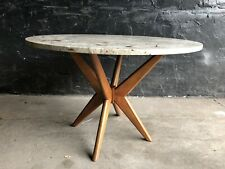 Marble Round Coffee Table Or End Table Mid Century Modern Pearsall Style