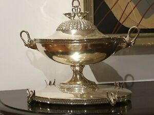 1700g STERLING SILVER FRENCH STYLE HANDLE SOUP TUREEN DURAN SILVERSMITH