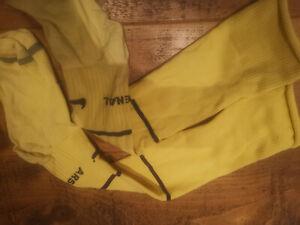 Arsenal Match Worn 98/00 Ultra Rare Yellow 3rd Socks For Away Shirt - LAST ONES!