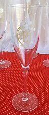 Set of 4 Perrier Jouet Champagne Glasses Flutes Stemware Floral Gold Pink 5 oz