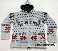J509 L Fleece lined Hoodie Deer spotted Design winter men multi Jacket Nepal