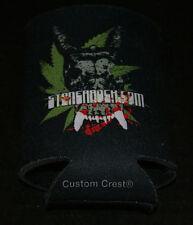 Stoner Rock Com Beer Koozie Nver Used Mint Dual Sided Pot Leaf Graphics