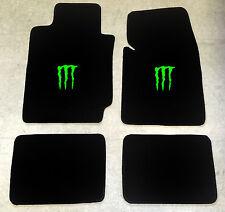 Autoteppich Fußmatten für Dodge Durango Monster neongrün Velour 1998-03 4tlg Neu