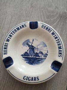 Ancien cendrier publicitaire en faïence de DELFTS - Cigars Henri Wintermans