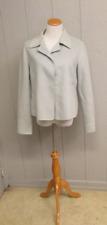 NEW Linda Allard Ellen Tracy Ice Blue 100% Wool Formal Jacket Size 8