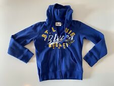ST. LOUIS BLUES Full Zip Hoodie Sweatshirt Women's Size Small G-III 4HER Blue