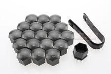 20* Wheel Lug Nut Bolt Cover Caps+Tool For SKODA ,Dark Grey, 17mm