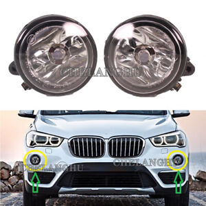 2pcs For BMW X1 F48 2016 2017 2018 2019 Front Bumper Fog Lamp Light With Bulbs