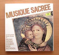 DG 413 874-1 Musique Sacree Mozart Handel Schubert Bach etc 3xLP Box NEAR MINT