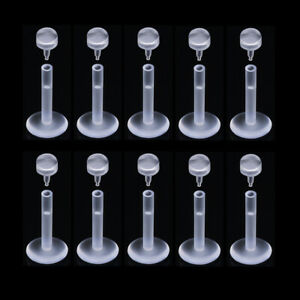 10PCS Nose Piercing Nose Stud Transparent Nose Hoop Ring Lip body piercing gift