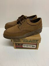 HS TRASK Nubuck Bison Leather Casual Oxford Shoes Cocoa Moc Tie  Men's Sz 8 USA