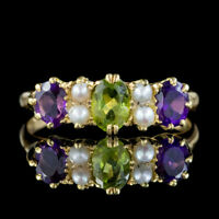 ANTIQUE SUFFRAGETTE EDWARDIAN RING 18CT GOLD DATED 1905