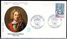 FRANCE FDC - 852 1748 3 NAVIGATEUR DUGUAY TROUIN 9 6 1973