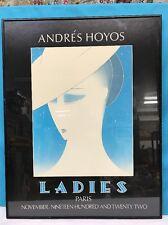 Printing Framed Andre's Hoyas Ladies Paris Nov. Nineteen Hundred & Twenty Two