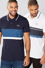 Jack &Jones Pack Of 2 100% Cotton Stripe Polo Shirts Size XXL