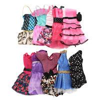 10Pcs Barbie Poupée Doll Robe Vêtement Jouet Educatif Cadeau pour Enfant Set