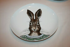 West Elm Rachel Kozlowski Dapper Animals Plates Rabbit EUC