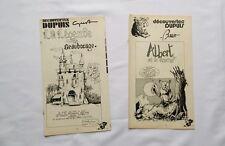 BD - Supplement Spirou Albert et le sorcier & Légende de Beaubocage BOSSE GUST