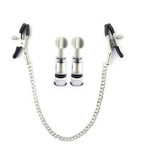 Nipple Clamps And Nipple Suckers Set With Chain Clip Enhancer BDSM Metal Sex Toy