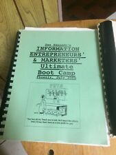 Dan Kennedy Info Marketer Bootcamp - Transcripts and Manual
