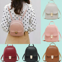 Women Girls Mini Backpack PU Leather Rucksack School Bag Travel Handbag Lot