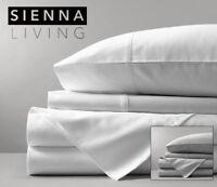 Sienna Living 1000TC Egyptian Cotton Queen Size Flat Sheet + 2 FREE PILLOWCASES