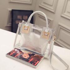 Womens Transparent Handbag Beach Bag Clear Jelly crystal Purse Crossbody Bags