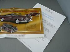 BROCHURE ONLY(NO CAR)-1/24-DANBURY MINT-LTD ED 1956 DESOTO FIREDOME CONVERTIBLE