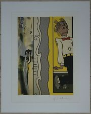 "Roy Lichtenstein ""Two paintings: Dagwood"" Lithograph plate signed"
