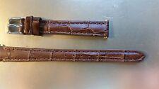 BRACELET MONTRE CUIR DE VACHETTE DOUBLE SYNTHETIQUE  **marron**12mm *  REF.ED27