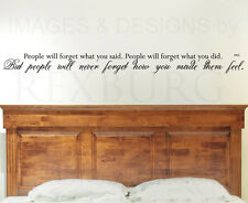Wall Sticker Decal Quote Vinyl Lettering Graphic How You Make People Feel J96