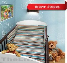 BABY BEDDING SET 3 pc piece COT QUILT DUVET PILLOW CASE COVER BUMPER - STRAIGHT