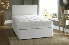 "SALE!!  4ft 6"" DOUBLE MEMORY FOAM DIVAN BED SET WITH MATTRESS AND H/BOARD"
