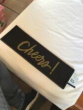 """CHEERS"" - BAR MAT - Black"