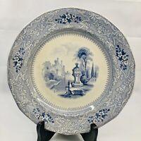 Antique Dinner Plate Ardennes by C CHALLINOR Ironstone Circa 1860