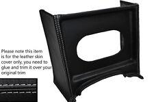 Gris Stitch Consola Parrilla Radio Envolvente De Cuero Skin Tapa se ajusta Mg Mgb temprana