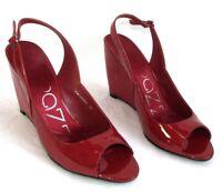 APEPAZZA - Sandales compensées cuir verni rouge 39 - TRES BON ETAT BOITE