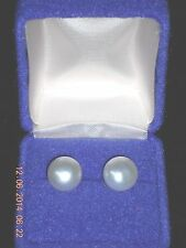 TAHITIAN PEARL EARRINGS 11mm STERLING STUDS