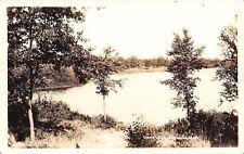 Walhalla Michigan~Lone Lake~Shore to Shore View~1920s Real Photo Postcard~RPPC