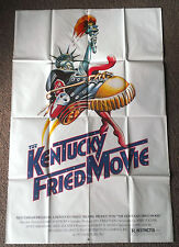 1977 THE KENTUCKY FRIED MOVIE Authentic folded movie poster John Landis
