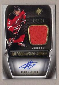 2011/12 Upper Deck SPx ADAM LARSSON Autograph Rookie Jersey /799 Devils SP Mint
