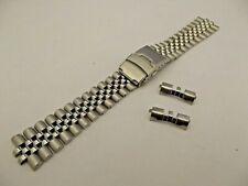 bracciale jubilee massiccio solido ansa curva 20 22 24 mm tipo seiko watch band