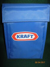 """VTG KRAFT FOODS Lunch Bag (NEW) Blue INSULATED 10"""" x 6"""" x 5"""" 1990's"""