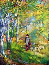 Pierre Auguste Renoir young man in Forest Fontainebleau old art print 2564om