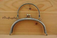 bag purse frame metal frame sewing handle frame clasp 16.5cm x7cm anti brass Z44