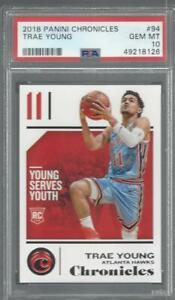 2018 Panini Chronicles Trae Young Hawks PSA 10 RC