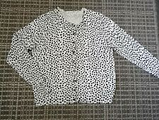 Womens Size 16 White Polka Dot Thin Knit Summer Cardigan